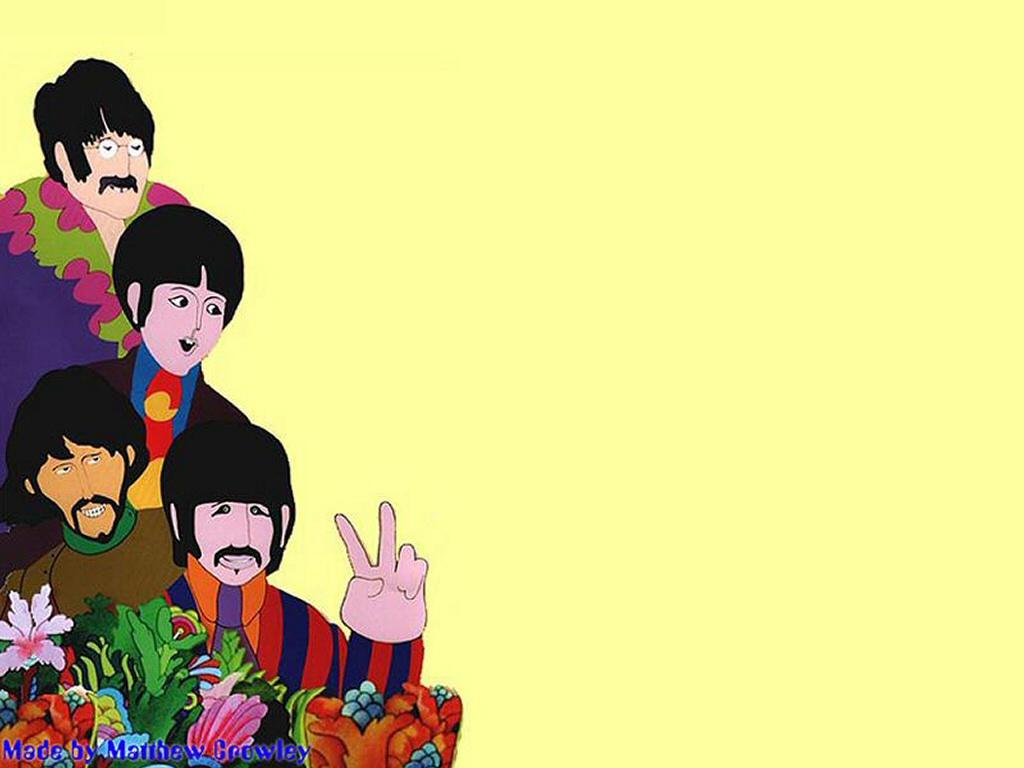 Beatles Yellow Submarine Wallpaper 1024x768