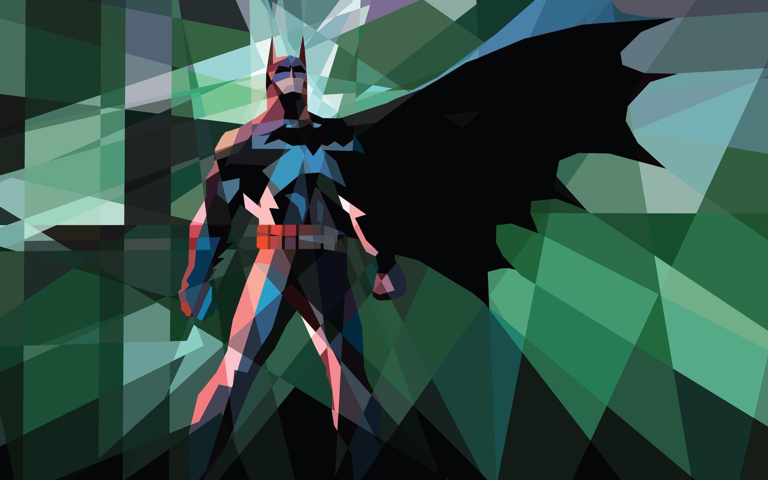 Batman comics superheroes iPad low poly 2560x1600 2560x1600