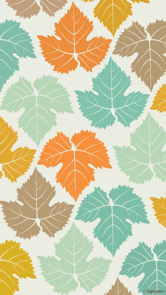 Colored Maple Leaves Pattern Wallpaper   iPhone Wallpapers 640x1136