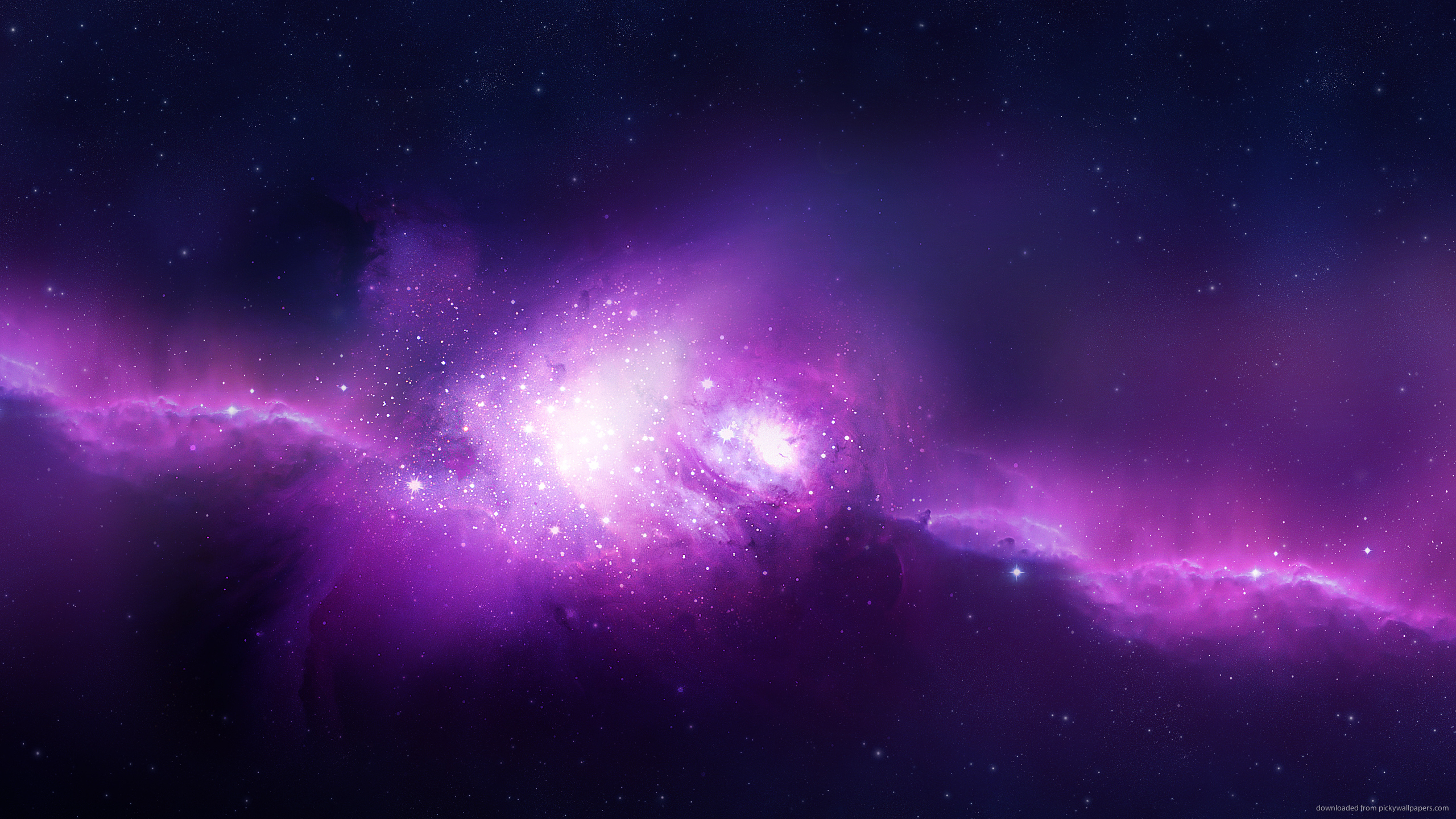 Download 2560x1440 Purple Space Wallpaper 2560x1440