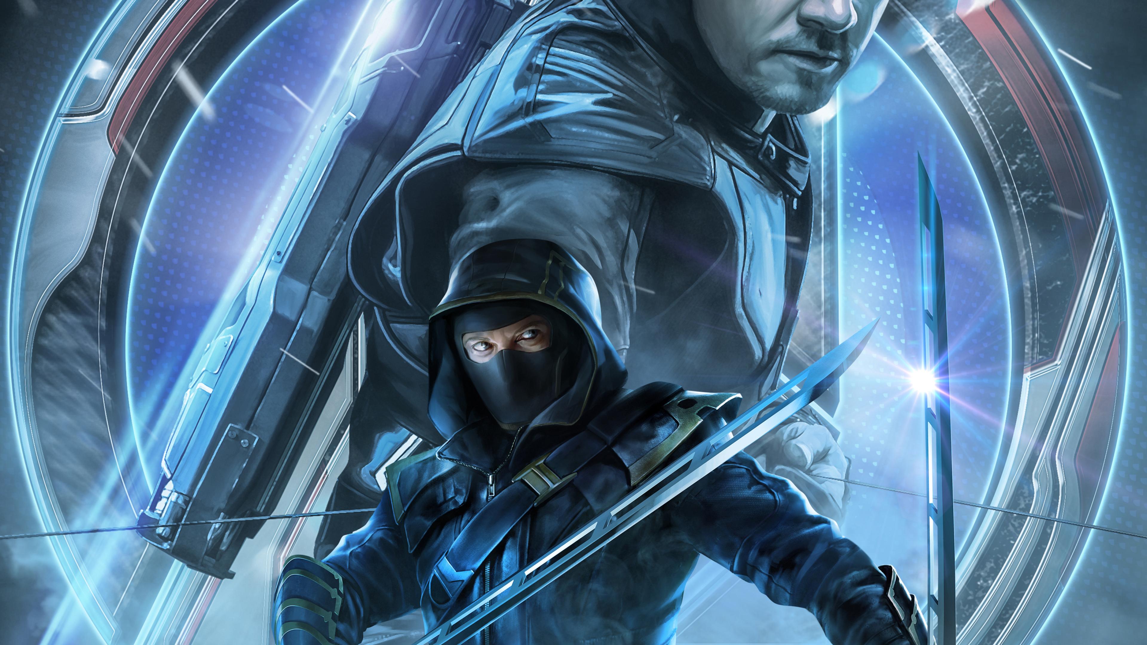 3840x2160 Avengers Endgame Ronin Hawkeye Poster Key Art 4K 3840x2160