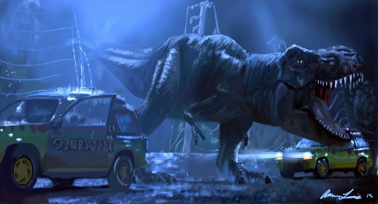 46 Jurassic Park T Rex Wallpaper On Wallpapersafari