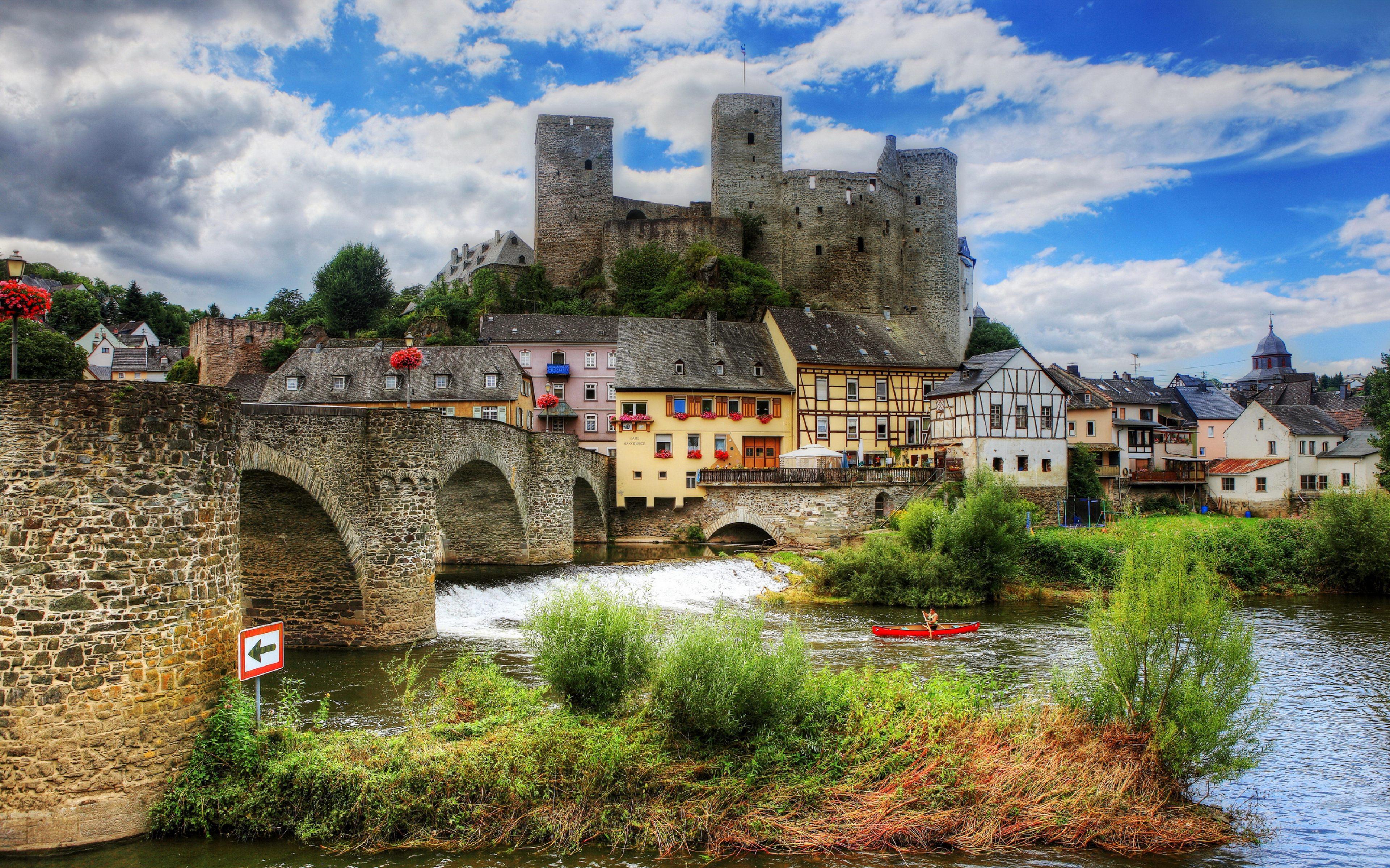 Runkel Germany Beautiful Landscape 4K Wallpaper download in high 3840x2400