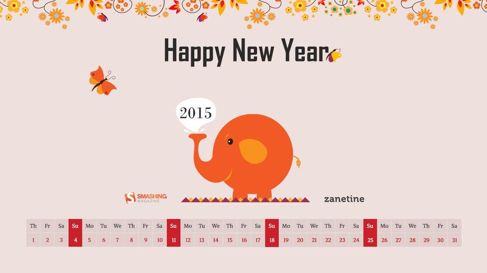 Download Smashing Magazine Desktop Wallpaper Calendar January 2015 1000x562