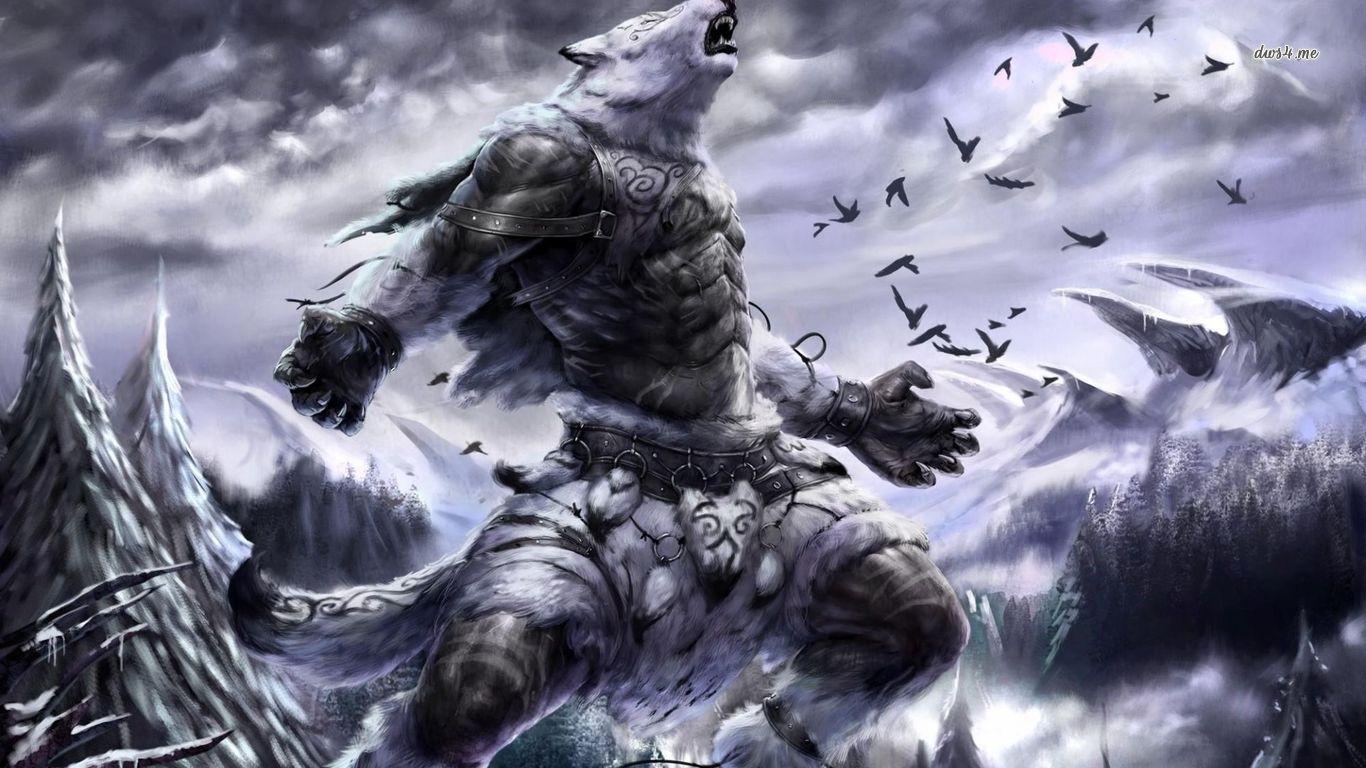 werewolf warrior Computer Wallpapers Desktop Backgrounds 1366x768 1366x768