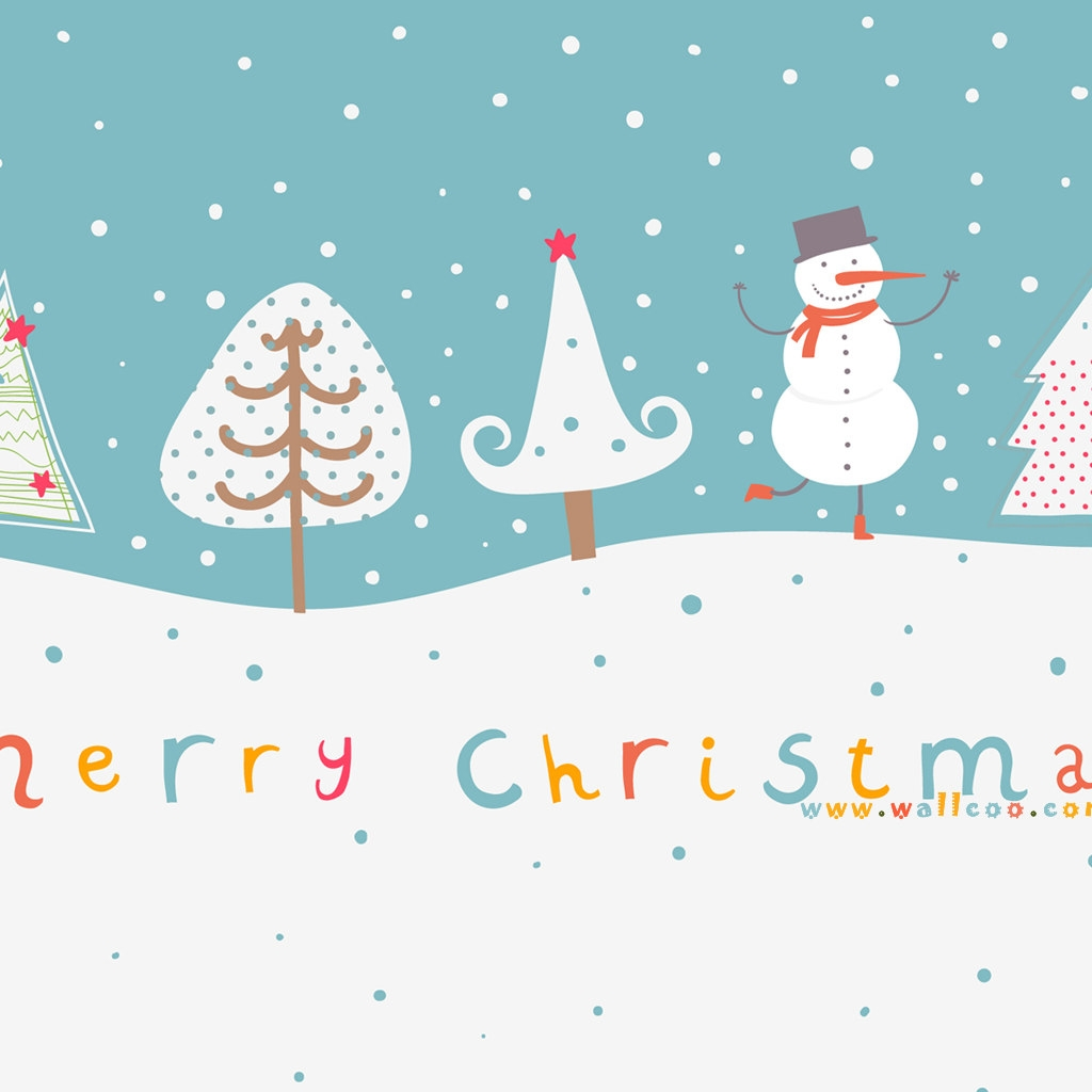 Cute Christmas Background 1024x1024