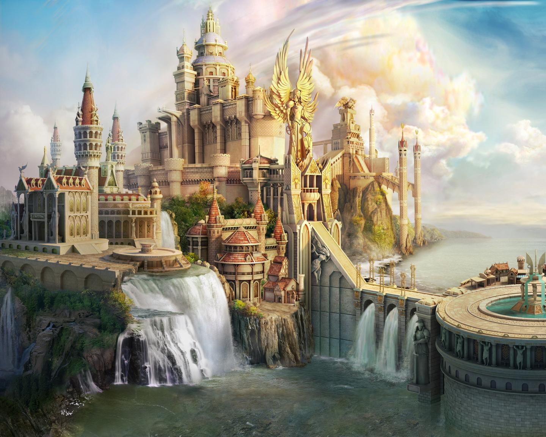 CG Fantasy Castle wallpaper   ForWallpapercom 1440x1152