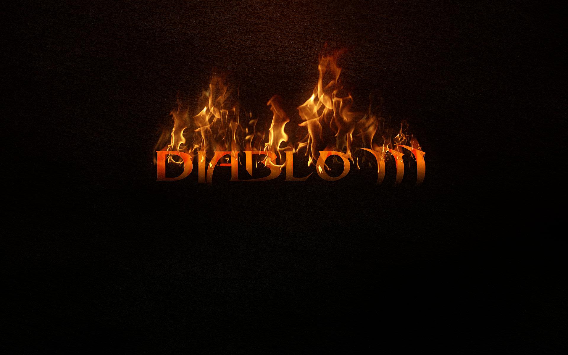 Games Wallpapers   Diablo 3 Burning Letters wallpaper 1920x1200
