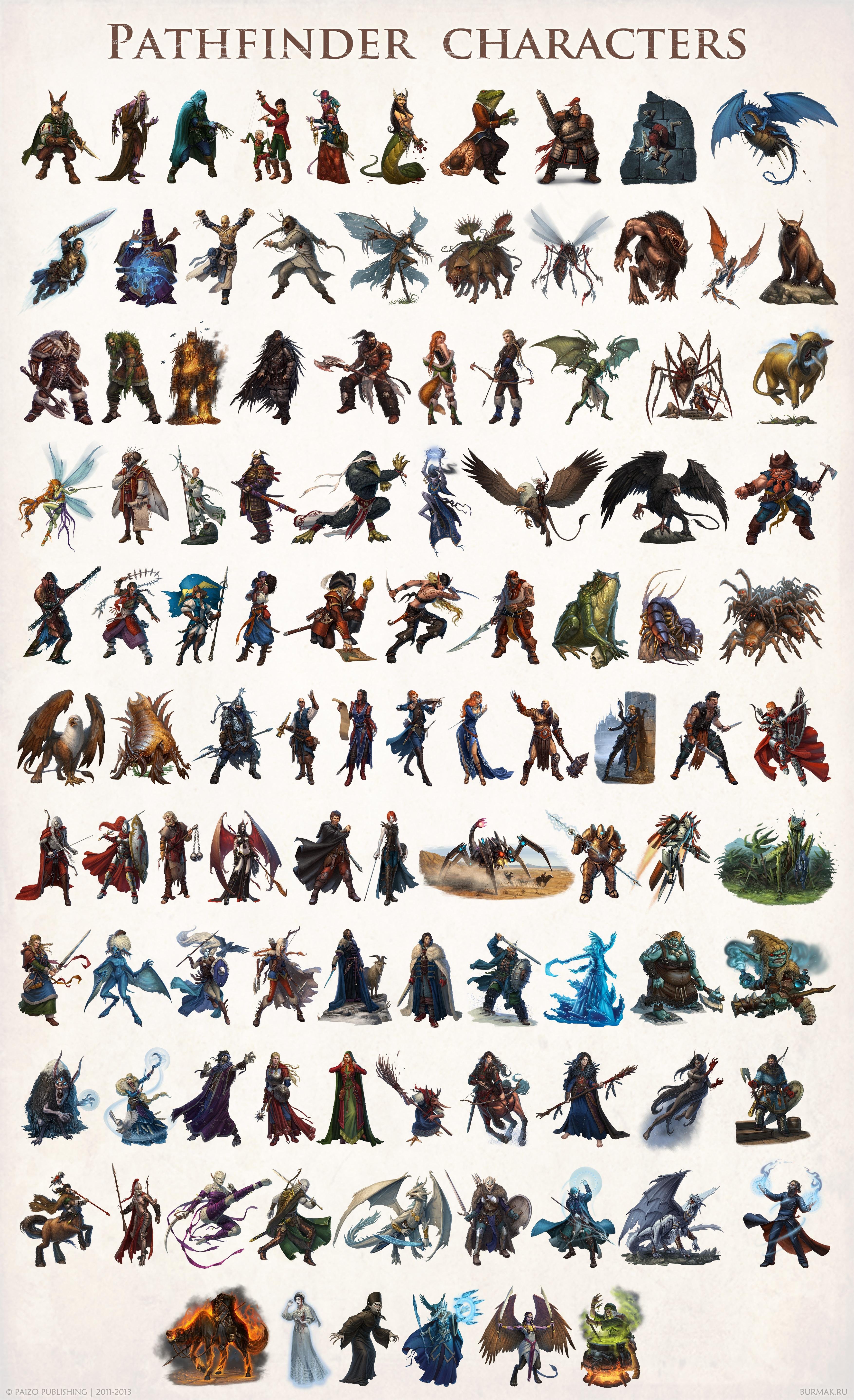 Paizo Pathfinder characters 001 105 by DevBurmak 3508x5753