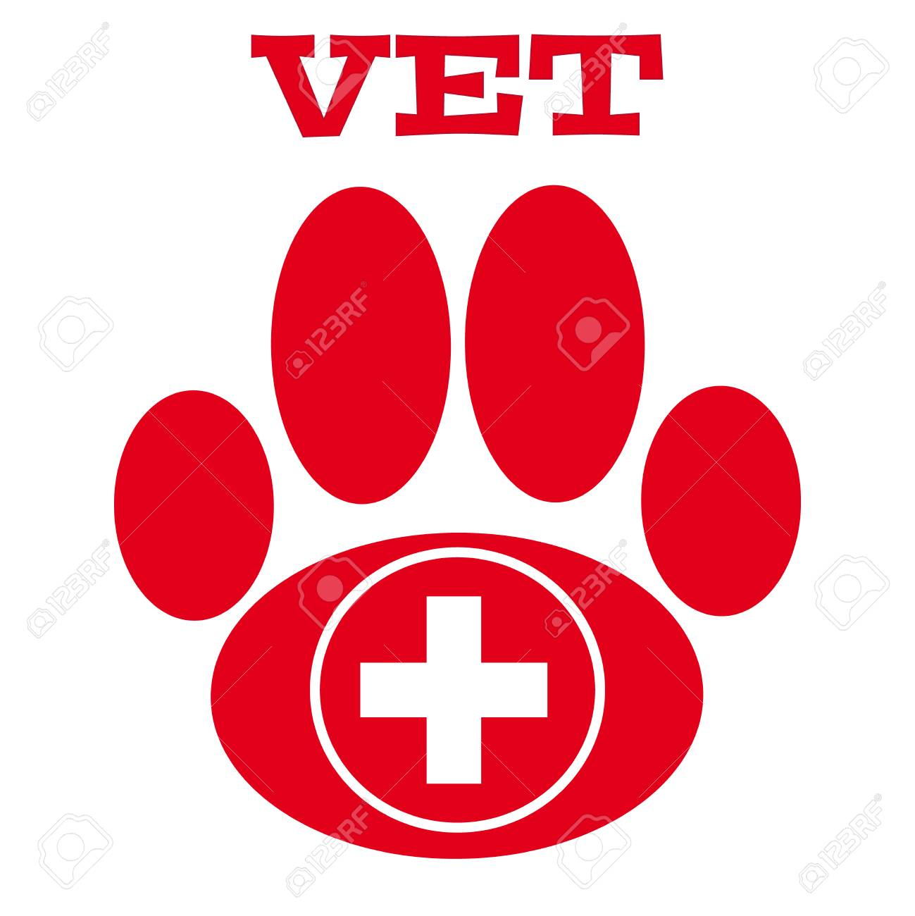 Red Vet Symbol On White Background Vector Illustration Royalty 1299x1300