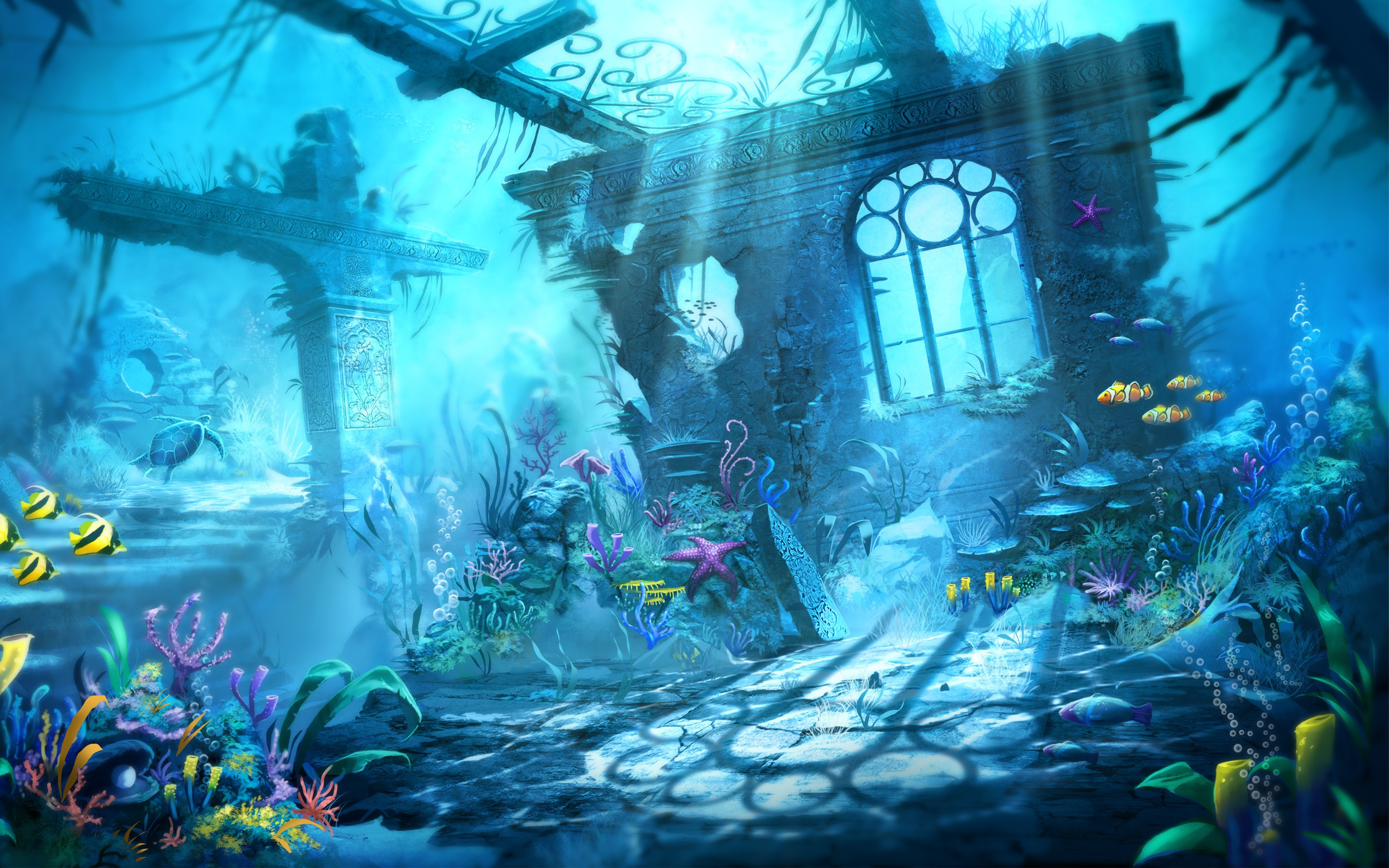 Trine Underwater Scene Wallpapers HD Wallpapers 2880x1800