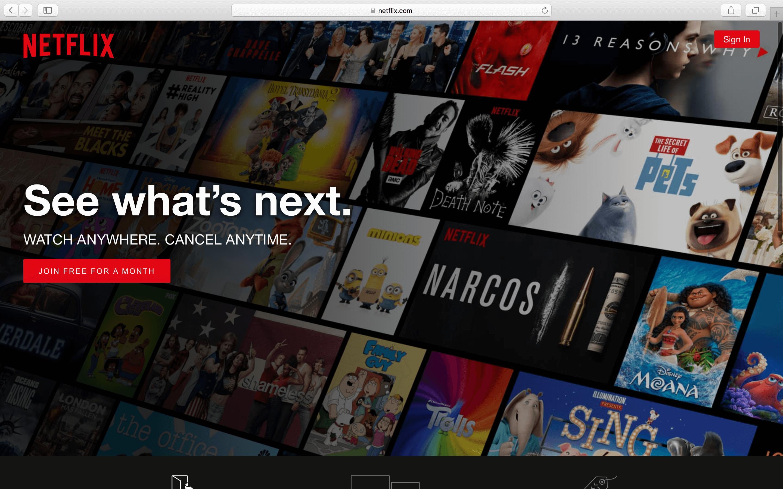 Background gradient style like Netflix hero image on homepage 2880x1800