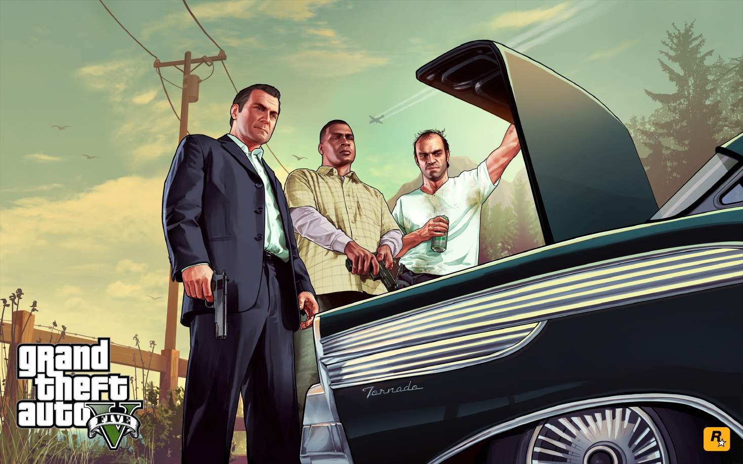 DaeTube GTA V HD Wallpaper Desktop Background Sceenshoot Game GTA 5 1468x918