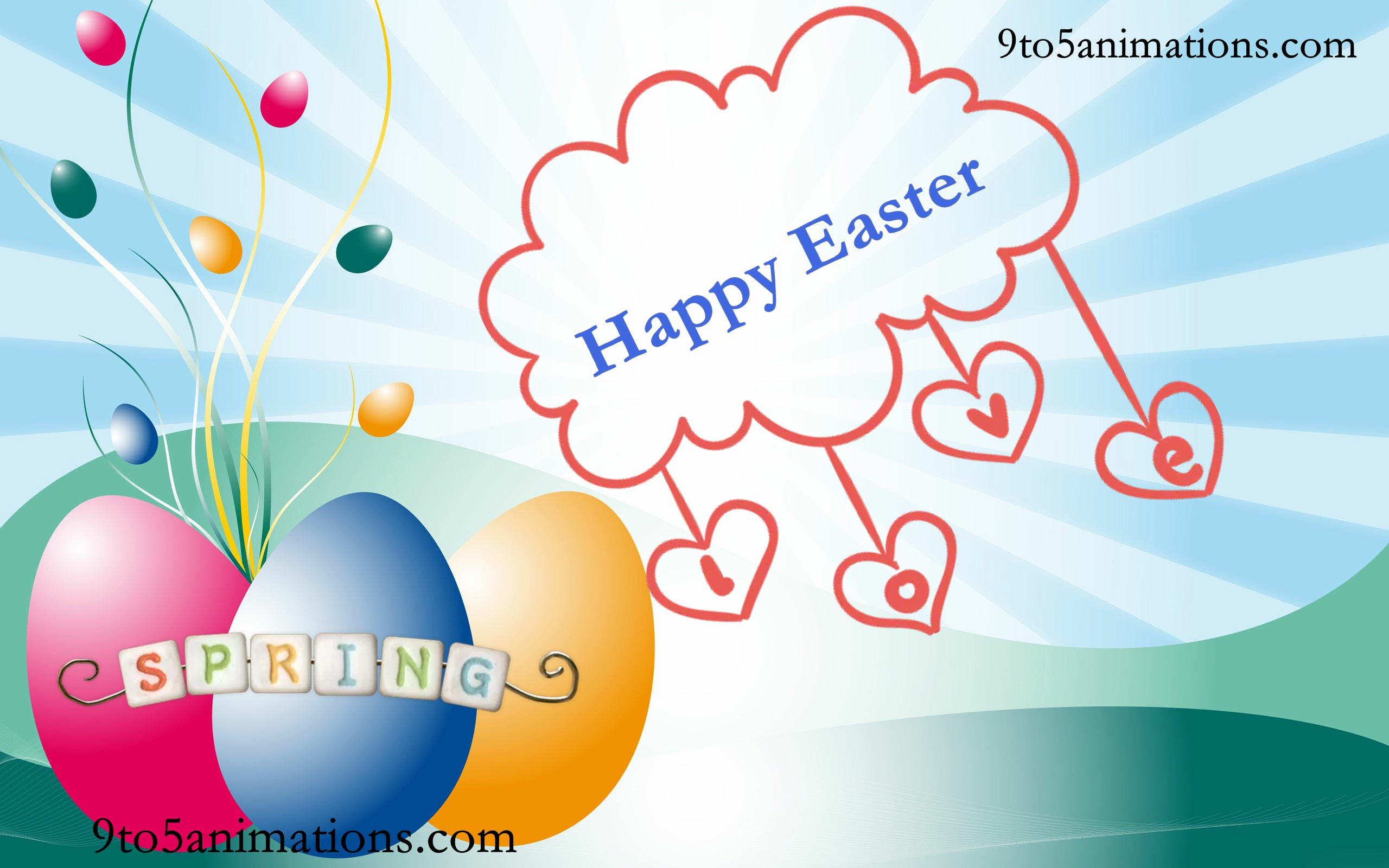 2018 Easter Wallpapers 9To5AnimationsCom 2560x1600