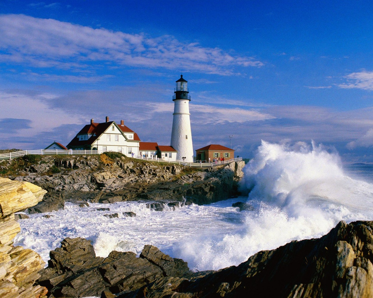 Portland Maine Headlight Lighthouse 1280x1024