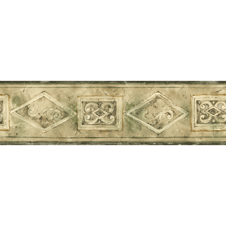 Shop Sanitas 5 18 Emblem Prepasted Wallpaper Border at Lowescom 900x900