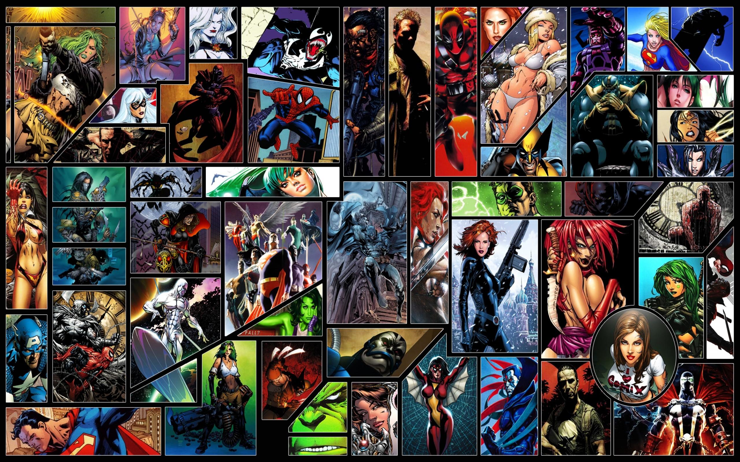 Marvel dc superheroes wallpaper wallpapersafari - Marvel and dc wallpapers ...