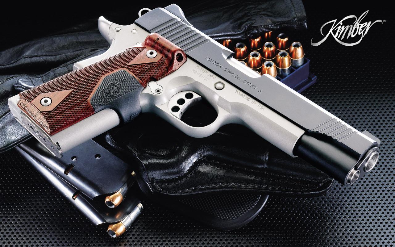 Knife And Gun Wallpaper