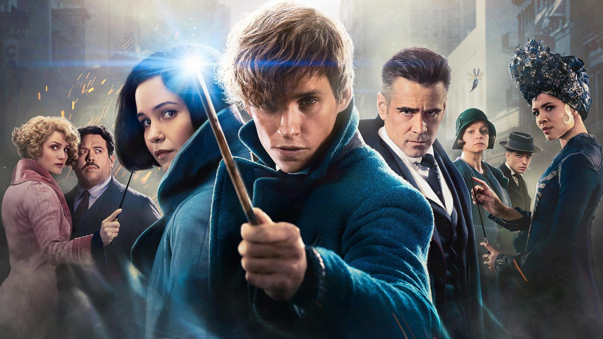 Fantastic Beasts and Where to Find Them Full Cast Wallpaper 1920x1080