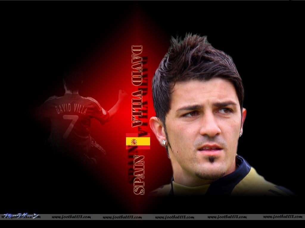 Top Football Players David Villa Wallpapers 1024x768