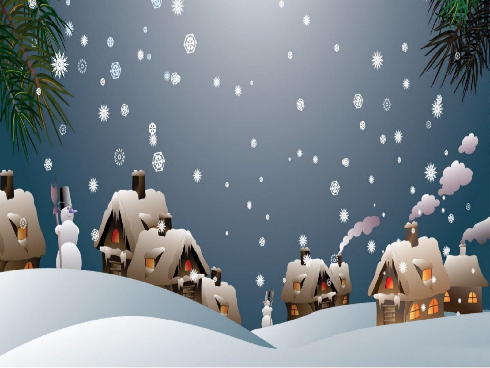 Animated Snow Desktop Wallpaper