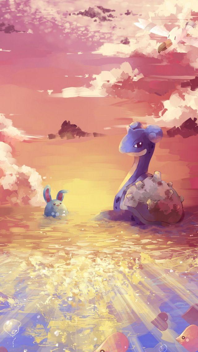 Lapras and Azumarill   pokemon iPhone wallpaper mobile9 iPhone 640x1136