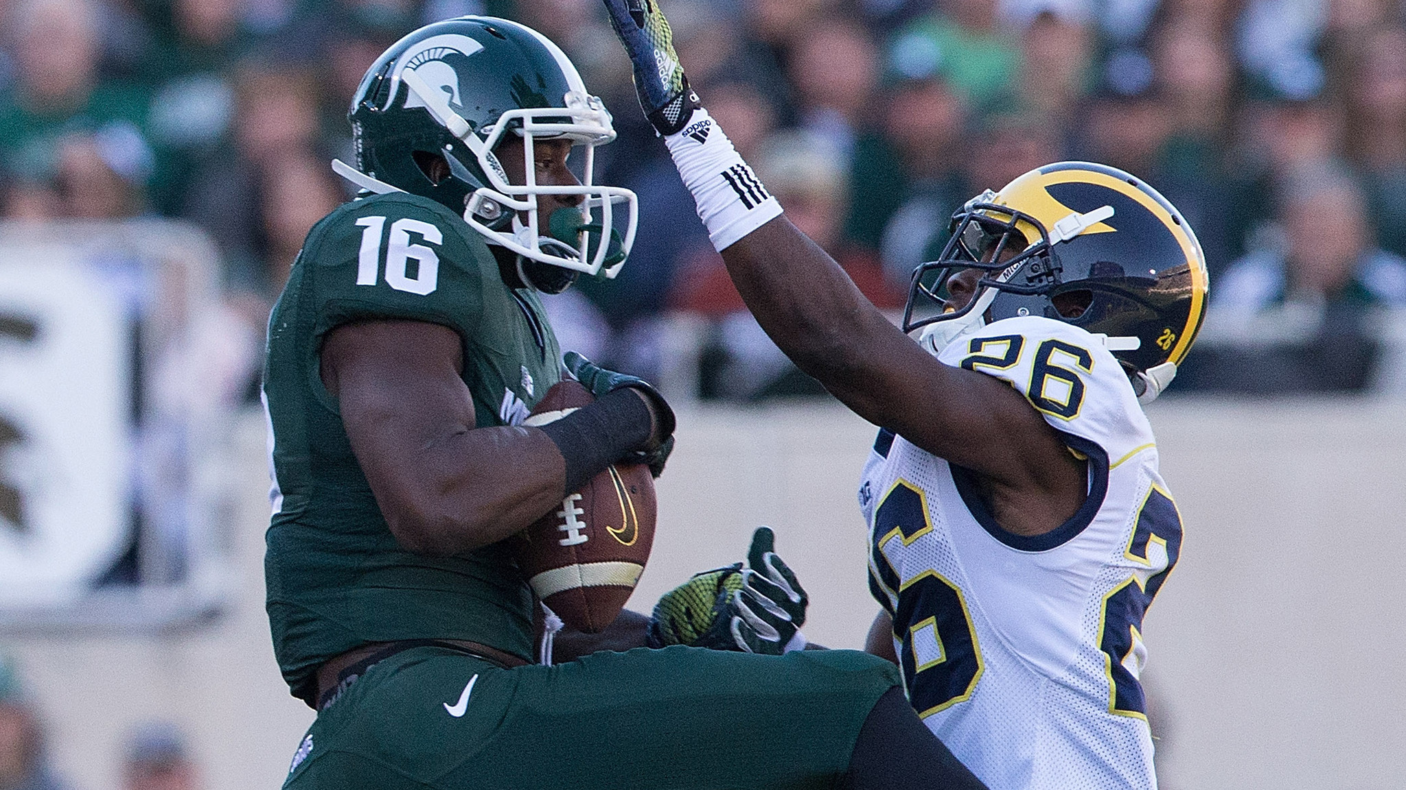 No 8 Michigan State runs over Michigan 35 11   LA Times 2048x1152