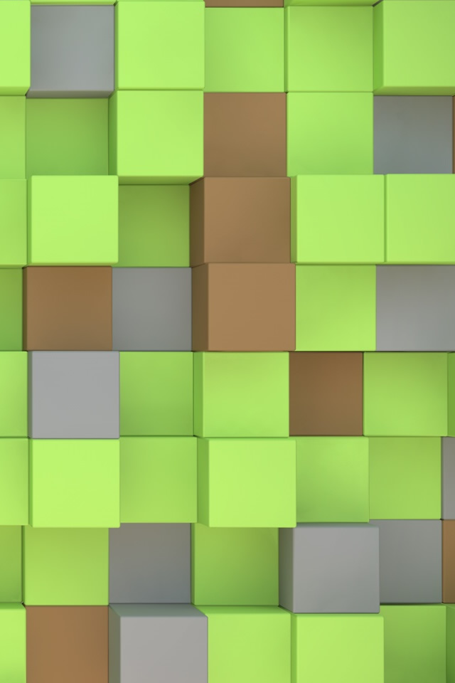 Minecraft Cubes iPhone 4s Wallpaper Download iPhone Wallpapers iPad 640x960