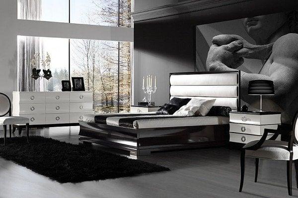 Masculine Mens Bedroom Ideas With Artistic Wallpaper Decor Ideasjpg 600x399