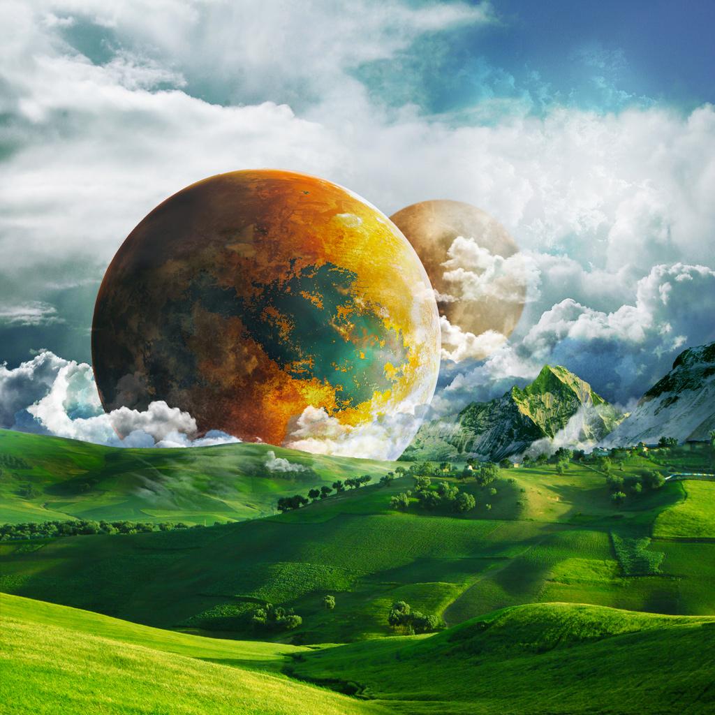Fantasy Planet iPad Wallpaper iPad Wallpaper Retina iPad 1024x1024