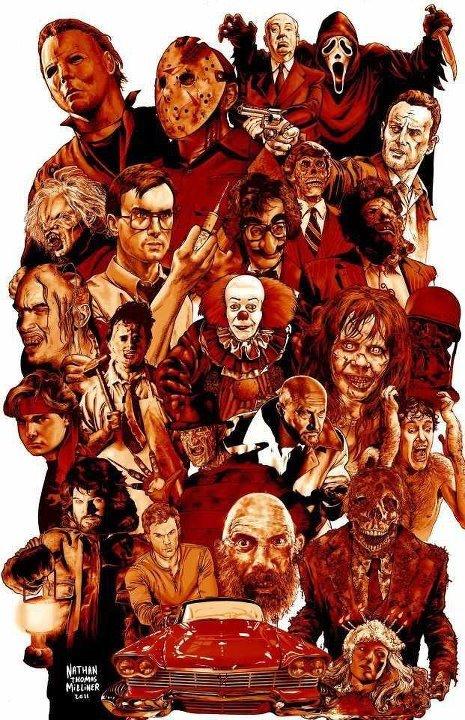 Media and Comics Fan Art Legends of Horror   Nathan Thomas Milliner 465x720