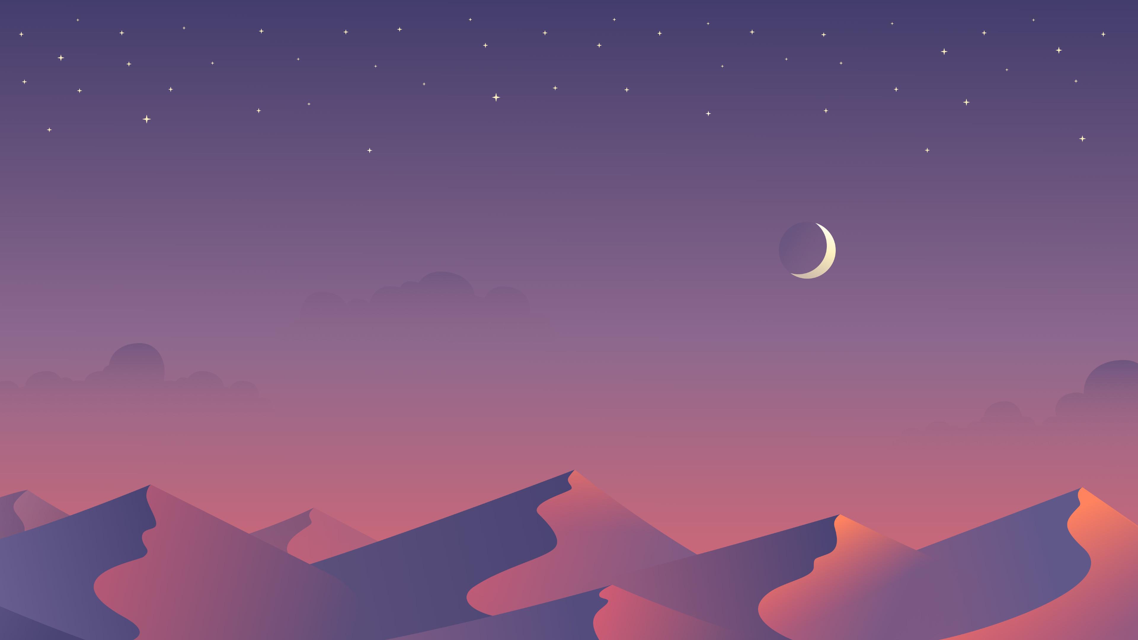 Minimalist Purple 4k Wallpaper 3840x2160