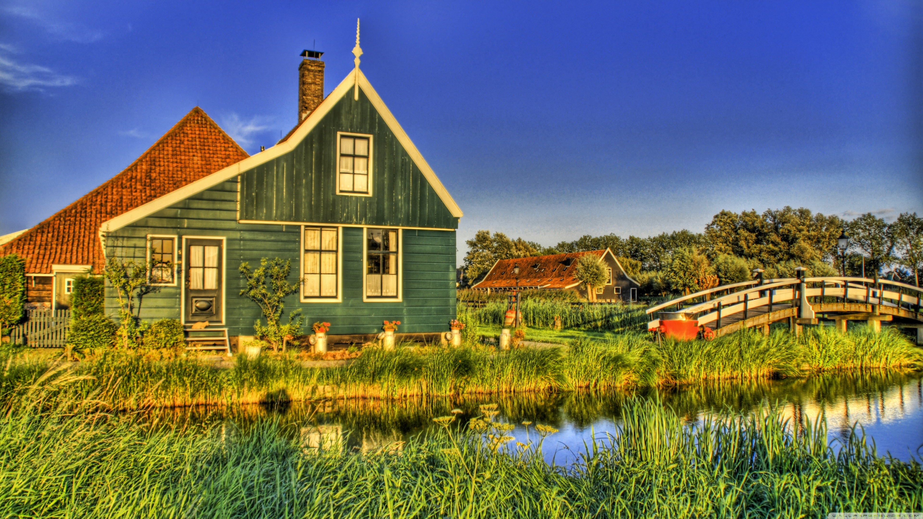 Holland Farmhouse 4K HD Desktop Wallpaper for 4K Ultra HD TV 3840x2160
