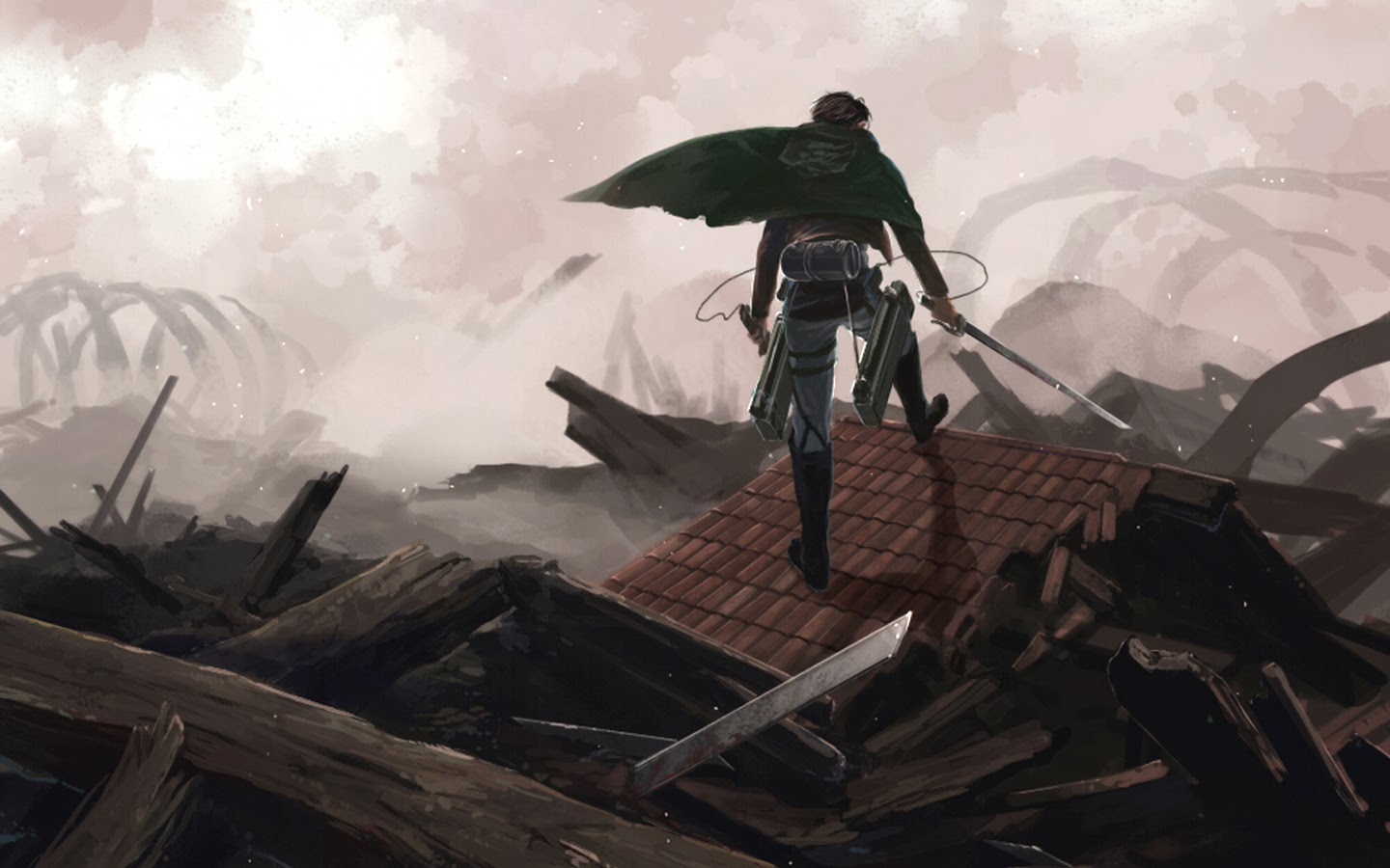levi attack on titan shingeki no kyojin anime hd wallpaper 1440x900 6g 1440x900