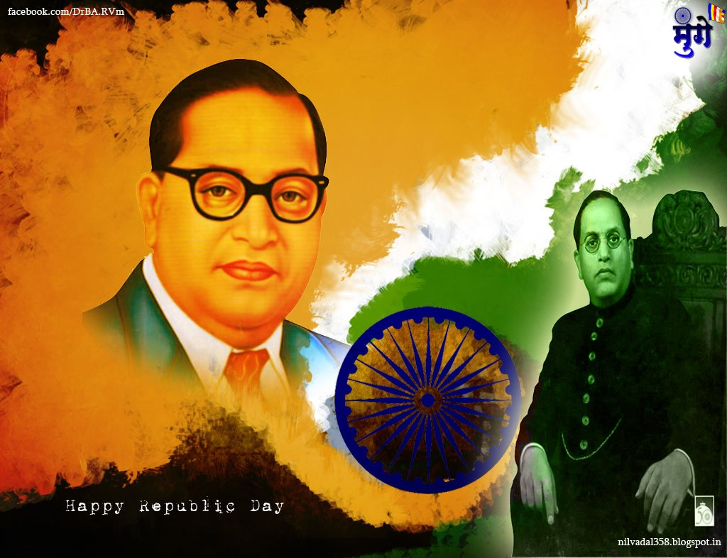 republic day of india br ambedkar wallpaper freedom fighter 1024x786