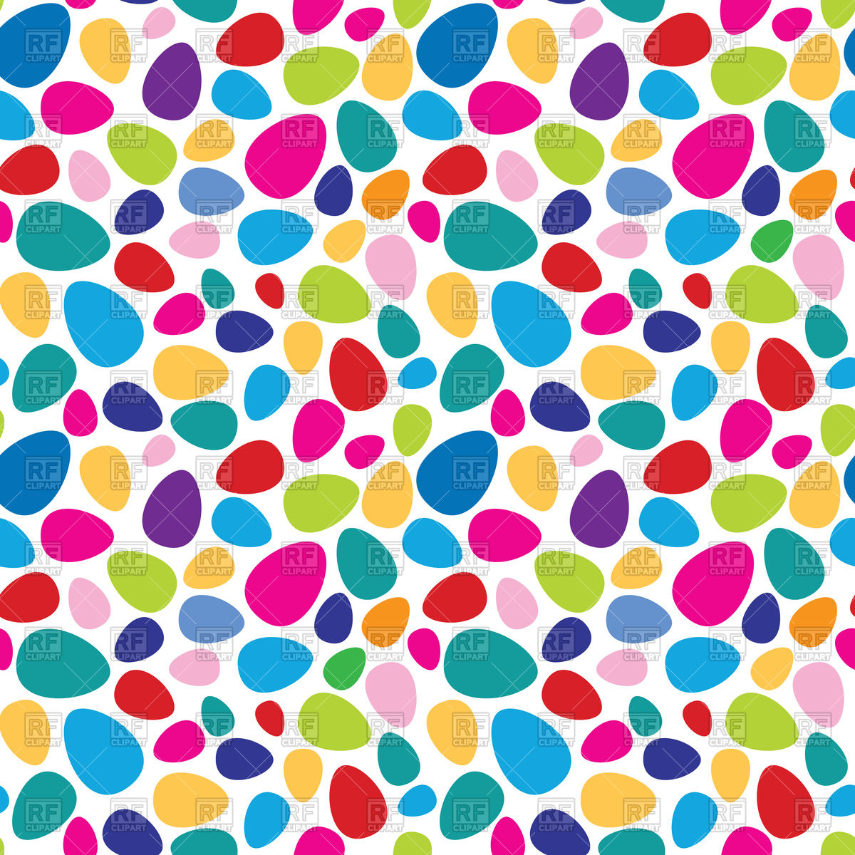 Colourful eggs seamless pattern   Easter background Vector Image 1200x1200