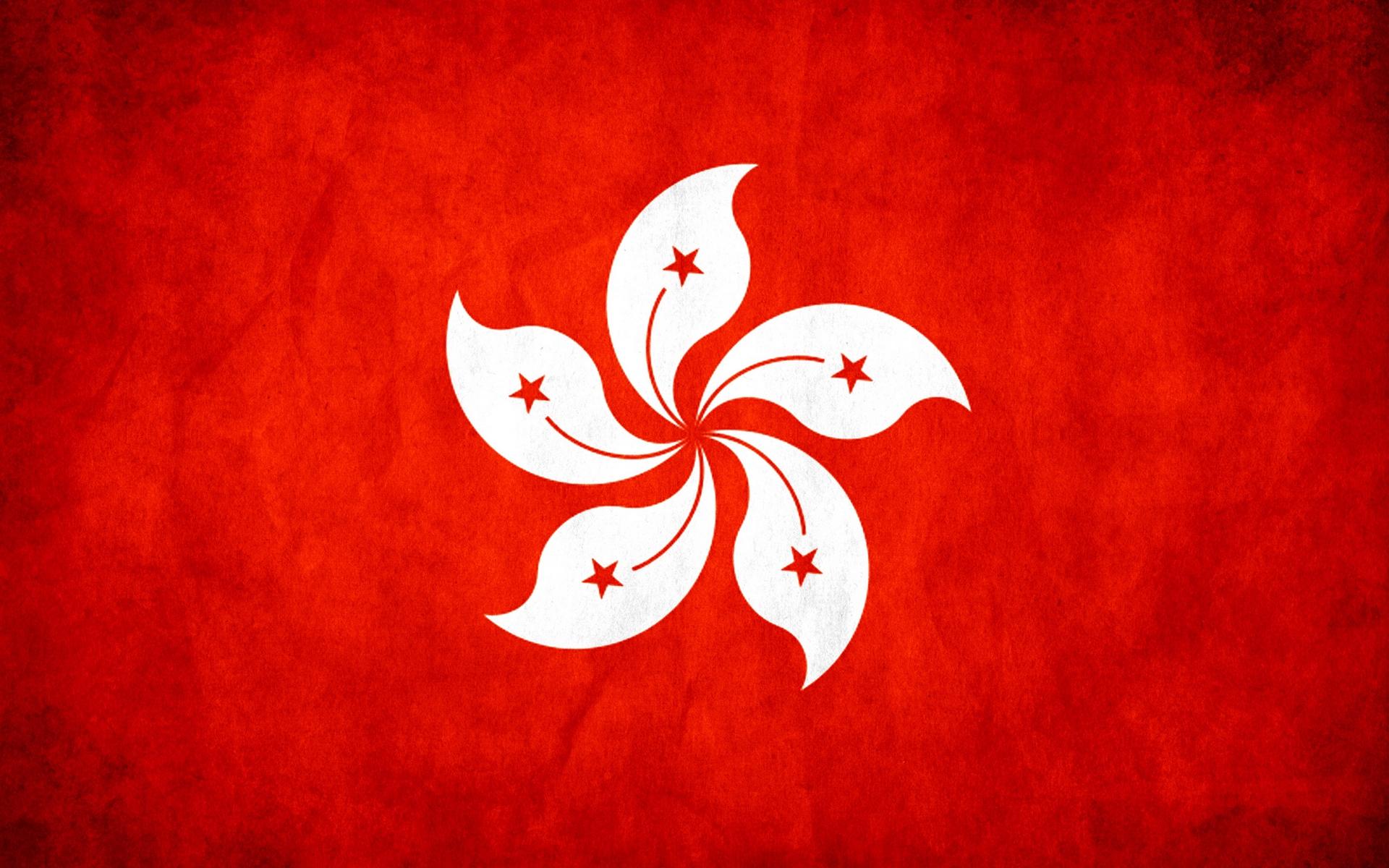 Download wallpaper 1920x1200 flag texture hong kong widescreen 1920x1200