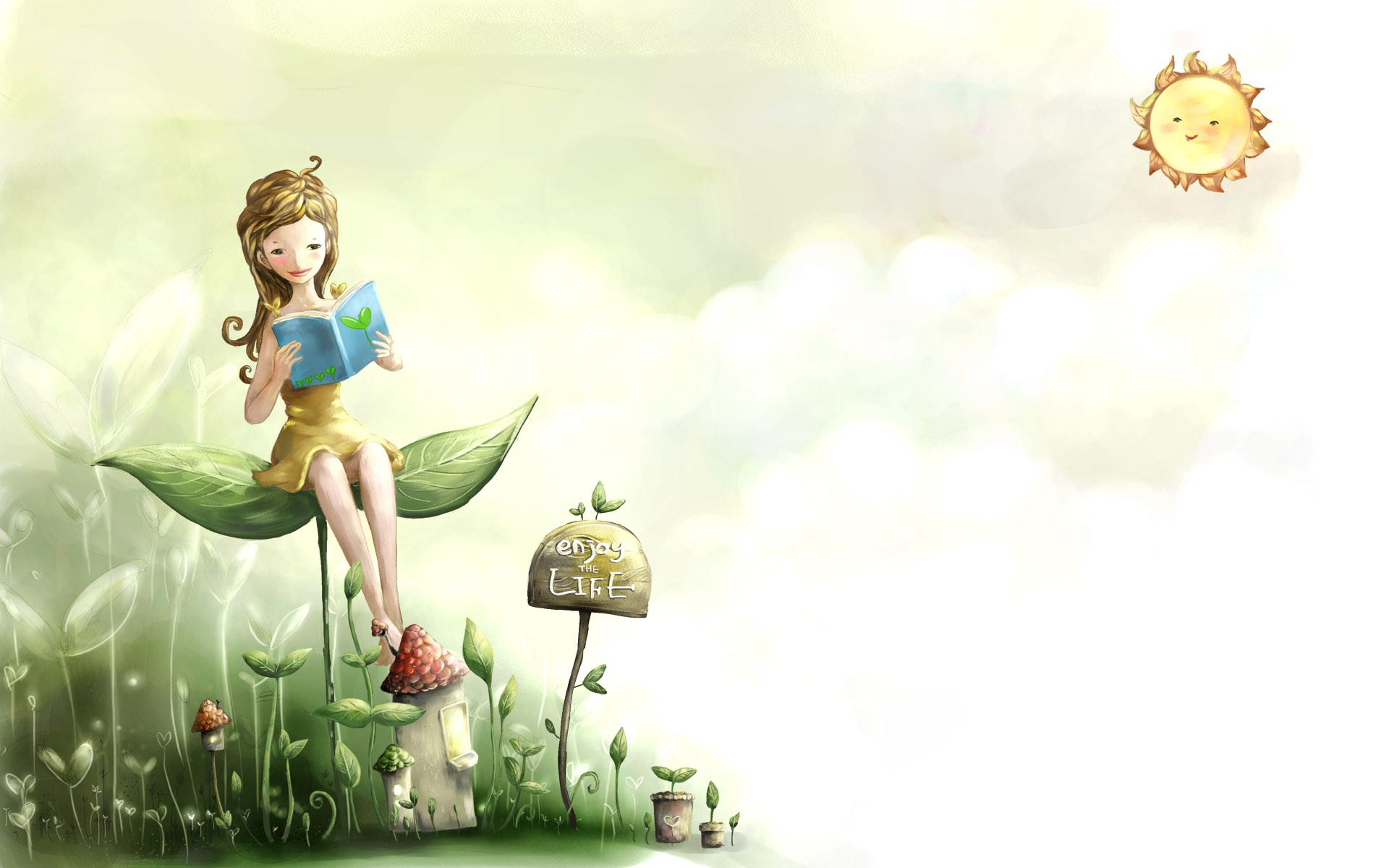Cartoon Cute Wallpaper Laptop Green 11108 Wallpaper Cool 1920x1200