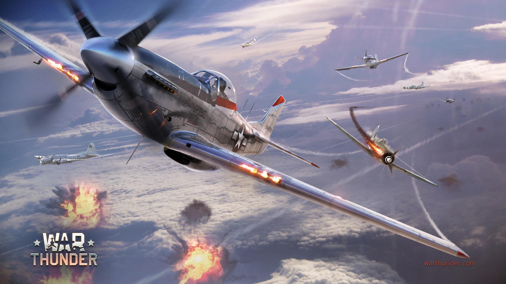 Sky Duels 9 P 51 vs FW series Warthunder 1920x1080