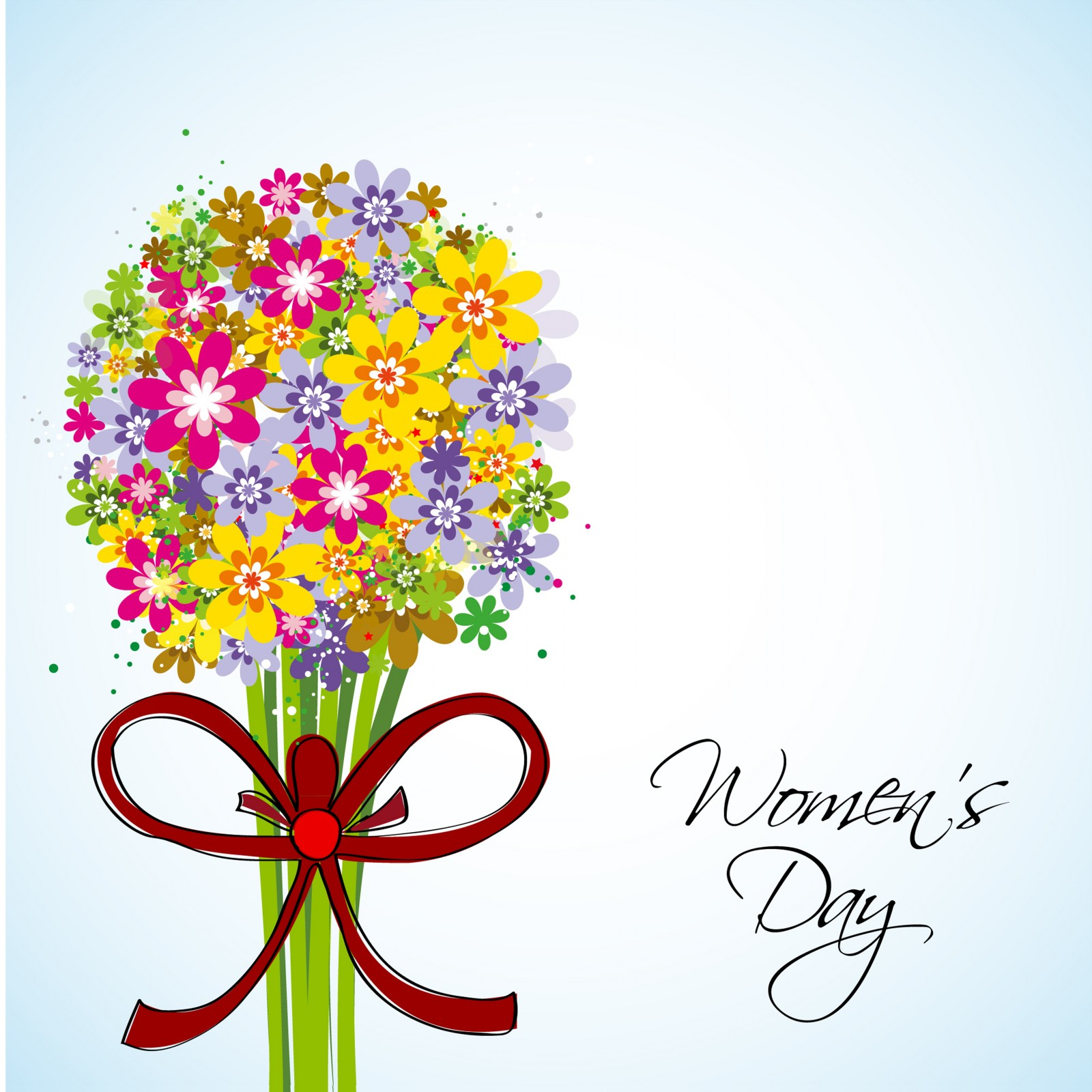 Great Womens Day Celebrations Stylish Greeting Cards HD 1600x1600