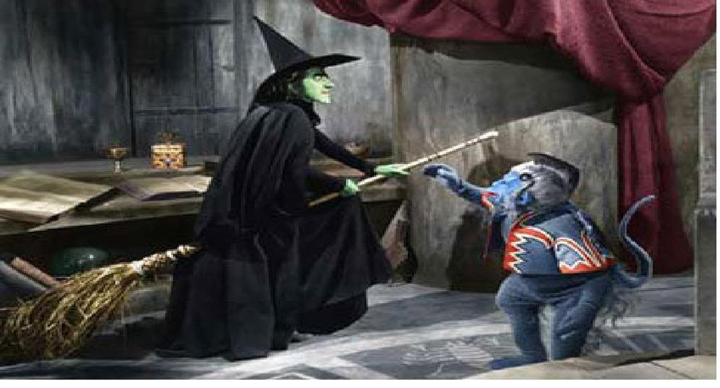 Wicked Witch Of The West Flying On Her Broom Wicked Witch Wallpaper...