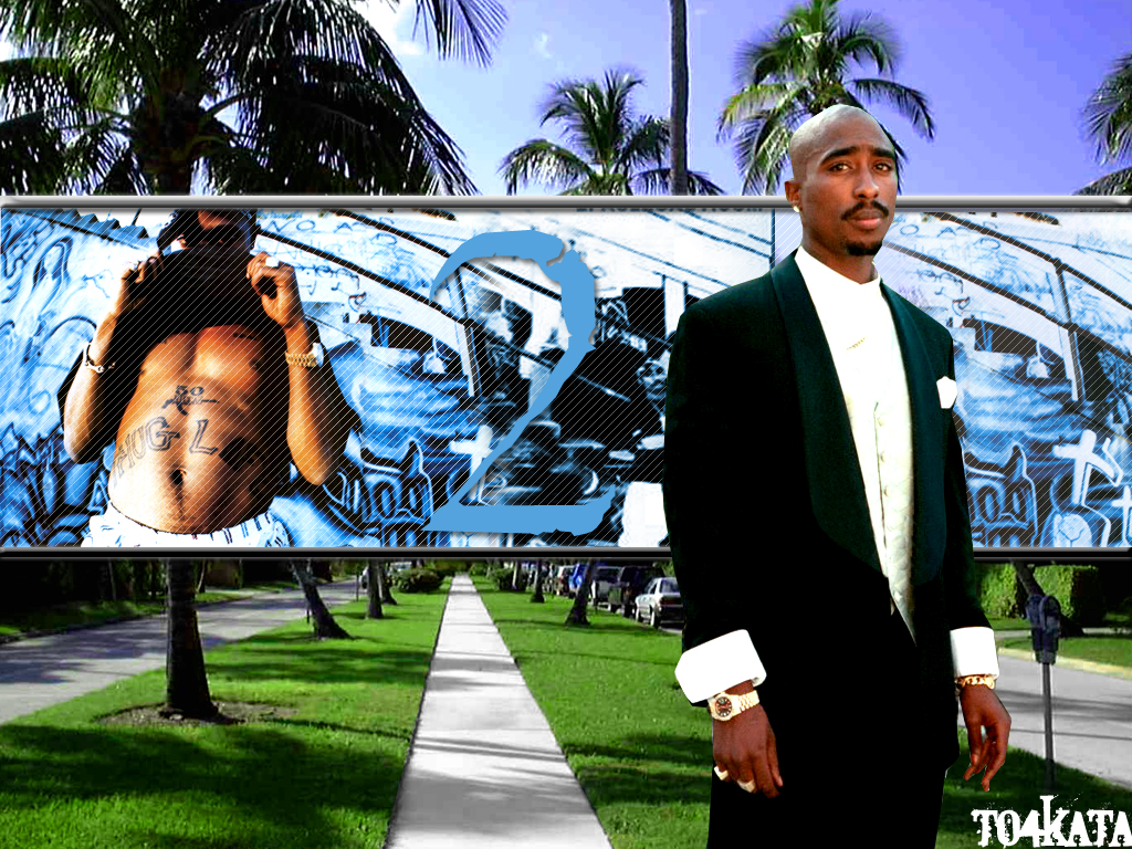 2pac Wallpaper Thug Life 1024x768
