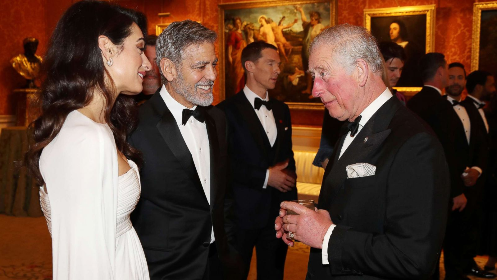 George and Amal Clooney attend charity dinner at Buckingham Palace 1600x900