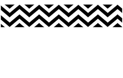 Black White Chevron Zig Zag Wall Border 500x317