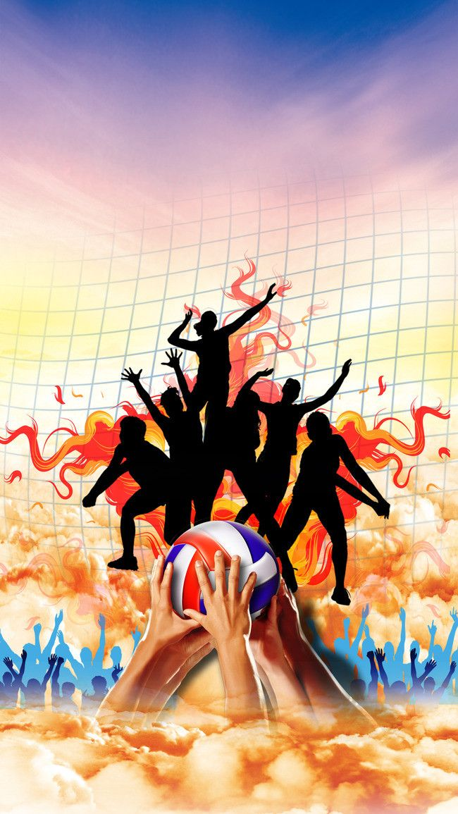 Volleyball Poster Background Material pattama pon Volleyball 650x1155
