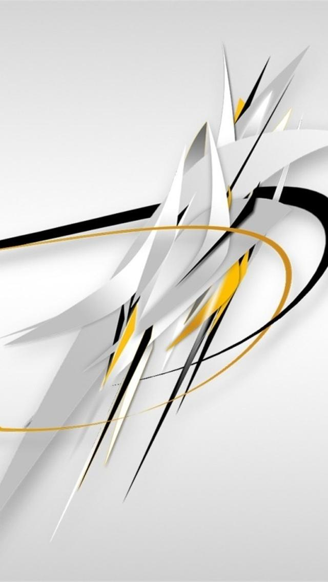White Abstract Design iPhone 5 backgrounds HD 640x1136