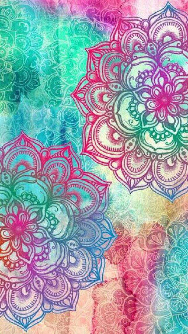 colourful mandala iphone background   image 3351239 by marine21 on 610x1082