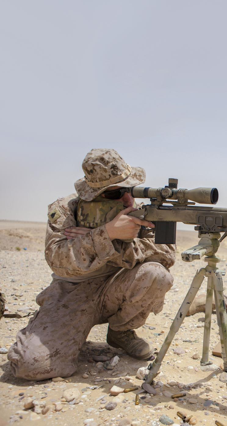 Sniper iPhone 5 Parallax Wallpaper 744x1392 744x1392