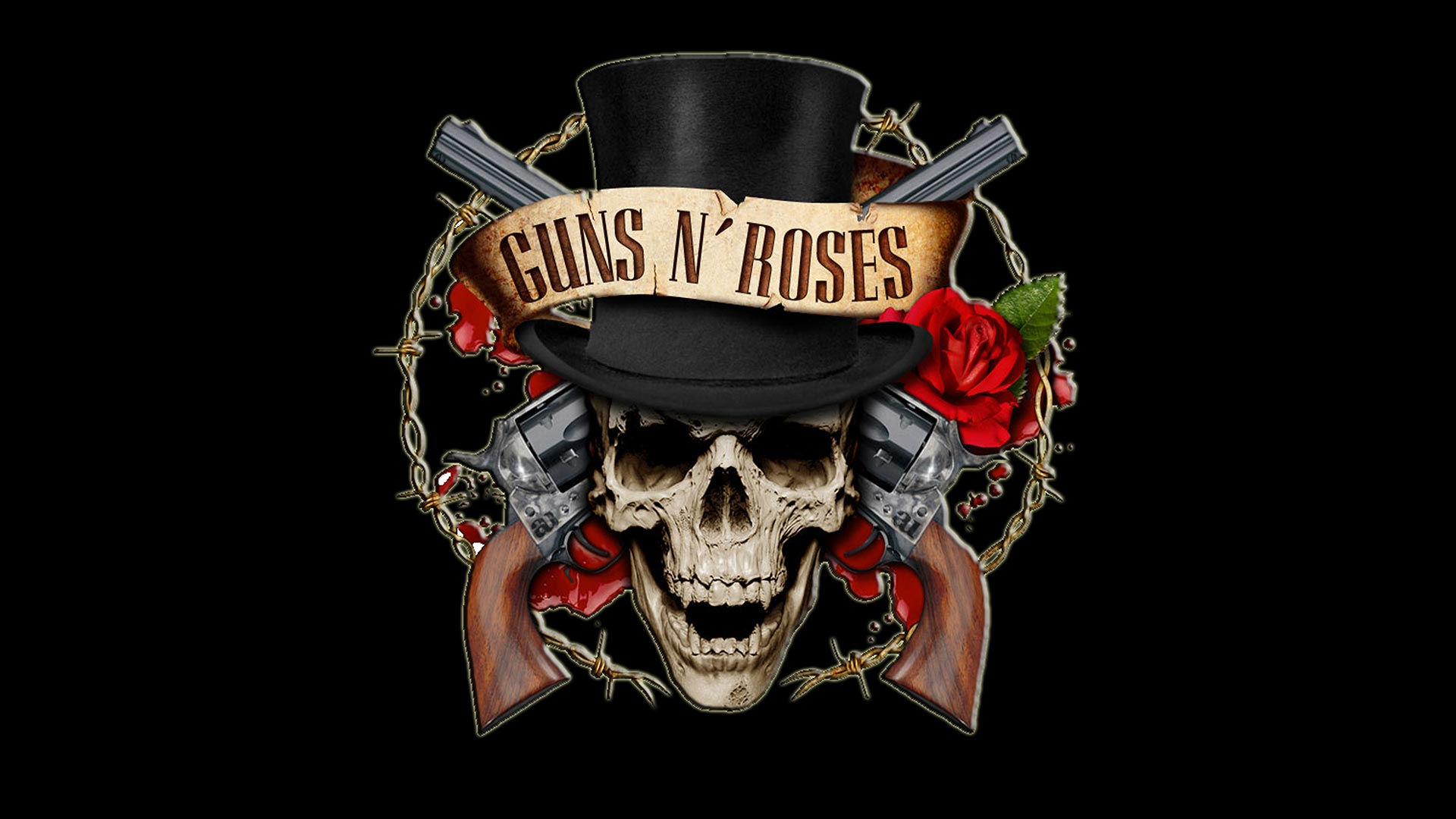 67 Guns N Roses Logo Wallpaper On Wallpapersafari