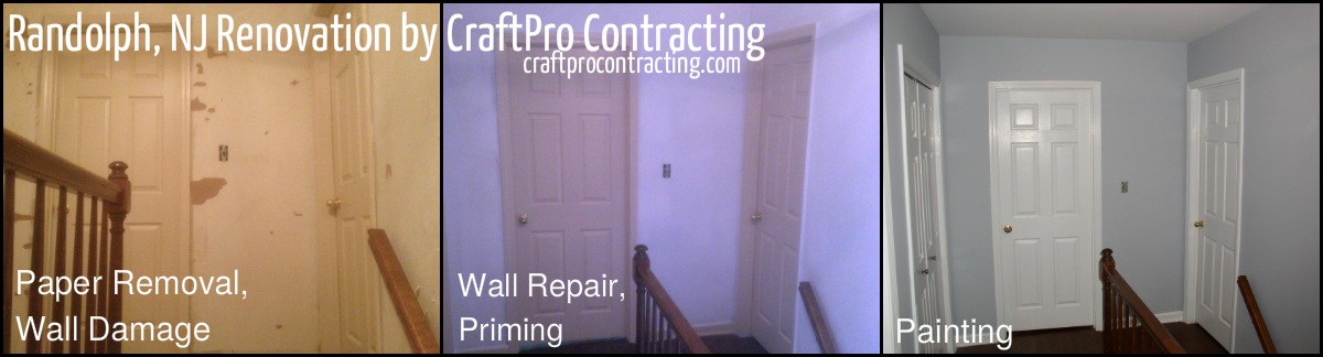 During After Wallpaper Removal